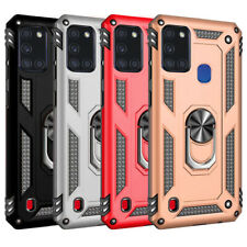 Samsung Galaxy A21S Phone Case - Hybrid Shockproof Armor - tempered glass option