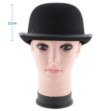 Traditional Felt Derby Bowler Hat Men Women Dress Tuxedo Costume Steampunk Black