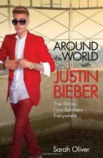 JUSTIN BIEBER, AROUND THE WORLD WITH, PAPERBACK, NEW BOOK
