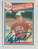 Cory Snyder 1985 Topps signed auto autographed card Team USA