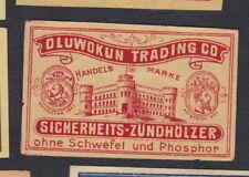 Ancienne   étiquette  allumettes Belgique  BN68033 Chateau Allemagne
