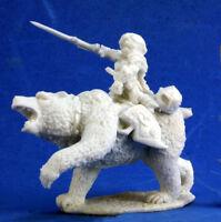 1x URSULA CAVALIERE OURS - BONES REAPER miniature rpg d&d dwarf bear rider 77353