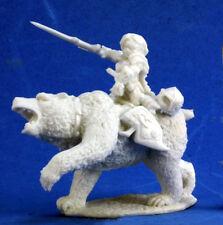 1 x URSULA CAVALIERE OURS - BONES REAPER miniature jdr rpg d&d dwarf bear rider