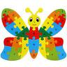 Alphabet Puzzle 3D Bois Jeu éducatif Animaux Papillon Jouet Cadeau Enfant