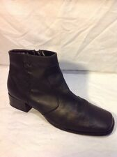 Barratts Black Ankle Leather Boots Size 7