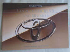 Toyota Land Cruiser II, VX y 4 Runner FOLLETO c1993
