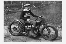 Smokin Joe Petrali Harley Davidson Motorcycle PHOTO Racing Champ Racer 1936