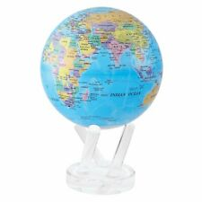 """6"""" Rotating MOVA Globe - Blue With Political Map"""
