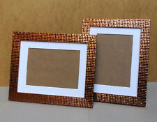"Copper Mosaic Finish Photo Frame with White Mount for 7 x 5""/5 x 7"" Photo/Print"
