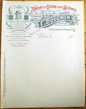 Sewing Machine 1900 Letterhead: 'Machines a Coudre de tous Systemes E. Douchin'
