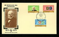 Postal History St. Vincent Fdc #545-547 Rowland Hill stamp on stamp 1979