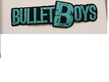 """2 large Bulletboys Patch Embroidered 80'S Metal-Iron On Patch-licensed 9.25"""""""
