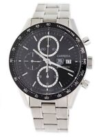 TAG HEUER CARRERA CV2010 41MM CHRONO BLACK DIAL STEEL BRACELET CV2010.BA0794