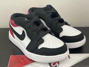 "Air Jordan 1 Low ATL TD ""Black Toe"" CI3436-116 Toddler Size 9C Basketball Shoes"