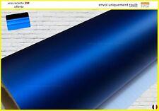 film vinyle chrome mat satiné bleu thermoformable adhésif covering 152cm x 20cm