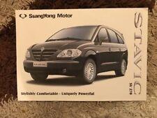 2006 SsangYong Stavic SV270 Car Brochure (South Africa)