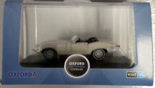 OXFORD Jaguar E-Type Open Top 1/76 Die-cast Car White (Brand New)