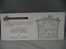 Vintage Advertising Ink Blotter Monroe Stationers and Printers Boston Mass