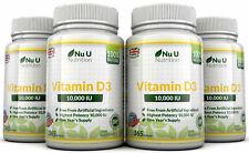 Vitamin D3 10000iu 4 x 365 Soft Gels  High Strength 100% Back Guarantee by Nu U