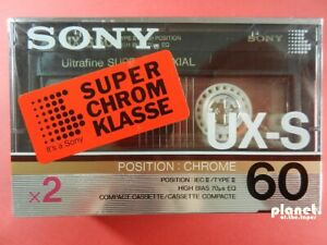 🔛 2x SONY UX-S 60 * tapes cassettes Kassetten кассеты * Pack of 2 * SEALED 🔝*