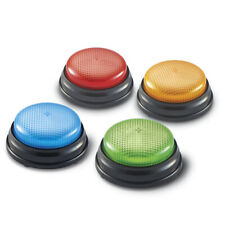 Light and Sound Answer Quiz Buzzers - 4 Light Up Game Show Buzzers