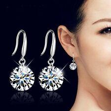 Elegant Hook Bride Wedding Bridal Women Stud CZ Earrings Jewellery Dangle 1Pair