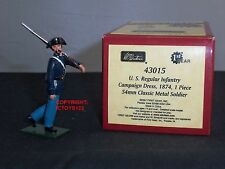 BRITAINS 43015 BLUECOATS US REGULAR INFANTRY CAMPAIGN DRESS METAL TOY SOLDIER