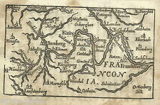 ANTICA CARTOGRAFIA_EUROPA_GERMANIA_FRANCOFORTE_KIZING_FRANCONIA_ANTICA MAPPA
