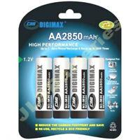 8 (2 x 4 packs) AA DIGIMAX Rechargeable 2850 mAh NI-MH Batteries HIGH CAPACITY