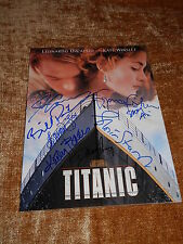 TITANIC Cast Signed Souvenir Program w/ COA  Cameron Bates Paxton Amis Stuart
