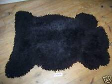 Black Sheep Skin Rug, Furniture Cover,Home Decor TA0004