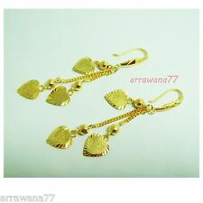 DROP DANGLE 22K 23K 24K THAI BAHT YELLOW GOLD GP EARRINGS JEWELRY E 184