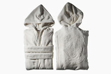 VERSACE MEDUSA BATHROBE with Hoodie WHITE  Size S-M Hooded