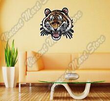 """Tiger Roar Face Cat Wild Life Animal Wall Sticker Room Interior Decor 20""""X25"""""""