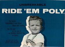 1959 ADVERT 2 PG Eldon RR Express Ride Em Poly On Toy Locomotive Railroad