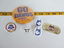 Lot of UW Huskies Fan Gear Pin/Earrings/Tag/Button/Golf Marker WA Dawg SKU D T