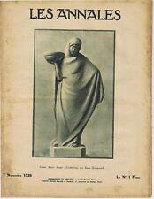 Les annales n°2263 du 07/11/1926 Maure Anna Quinquaud Homberg Armée salut Sumer