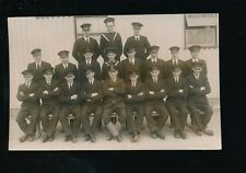 Kent Chatham naval group trainees? by Medway Studio c1950s? RP PPC reduced size