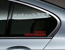Powered by VOLKSWAGEN Sport Racing Window Decal sticker emblem logo RED Pair