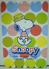 """Snoopy From The World Famous Comic Strip """"Peanuts"""" Stationary and Stickers"""