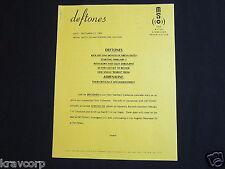 DEFTONES—1995 PRESS RELEASE