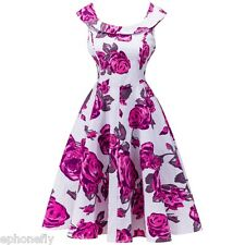 Retro 50s 60s Audrey Hepburn style Housewife Prom Rockabilly Party Swing Dress
