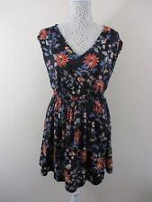 New Look Skater dress. UK 10 EU 38. Blk&multi colour floral. Sleeveless.