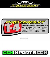 PRO CIRCUIT T4 T-4 EXHAUST SILENCER REPLACEMENT STICKER DECAL UK MX CGH