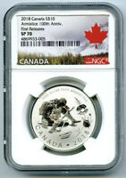 2018 $10 CANADA SILVER 10 DOLLAR 100TH ARMISTICE WWI NGC SP70 FIRST RELEASES