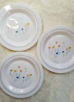 "Arcopal France Set of 3 Pastoral Dinner Plates 10.7"" with Spring Floral Pattern"