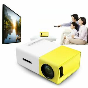 Mini Portable YG300 1080P Home Theater Cinema USB HDMI AV SD  HD LED Projector
