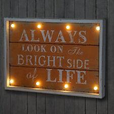 LED-Bulb Bild mit Beleuchtung Leuchtbild, Shabby-Look Vintage 60x40cm, Life