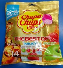 The Best of Chupa Chups Lollipops Cola Milky Fruit Strawberry & Cream and apple