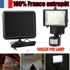 100LED Lampe  Projecteur Capteur Détecteur Mouvement Jardin Extérieur FR